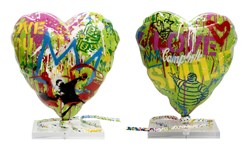 Balloon Heart by Mr. Brainwash - Mixed Media Sculpture sized 16x17 inches. Available from Whitewall Galleries